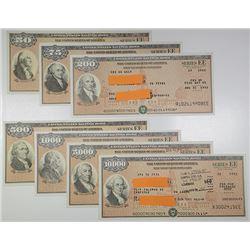 U.S. Savings Bond, Series EE, 1990-1993 Nicholas F. Brady Signature Bond Assortment.