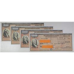 U.S. Savings Bond, Series EE, ca. 2011-2013 Bond Quartet Signed by Timothy Geithner.