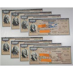 U.S. Savings Bond, Series EE, Patriot Bond 2002-2005 Bond Assortment.