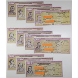 U.S. Savings Bond, Series I, ca. 2001-2011 Bond Assortment with Every Signature Variety Found for ea