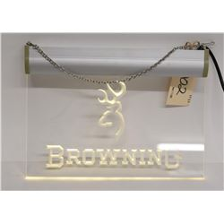 Illuminated Browning Sign
