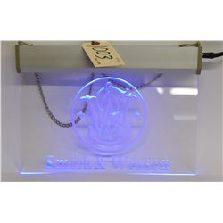 Illuminated Smith & Wesson Sign