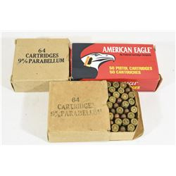 145 Rounds Parabellum & American Eagle 9mm