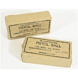 100 Rounds Pistol Ball .45 M1911Cal