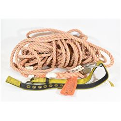 Vertical Life Line and Polyester Web Body Belt