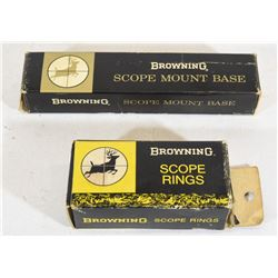 Browning 9117 Scope Rings and 8117 Base