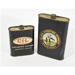 2 Vintage CIL Propellant Tins