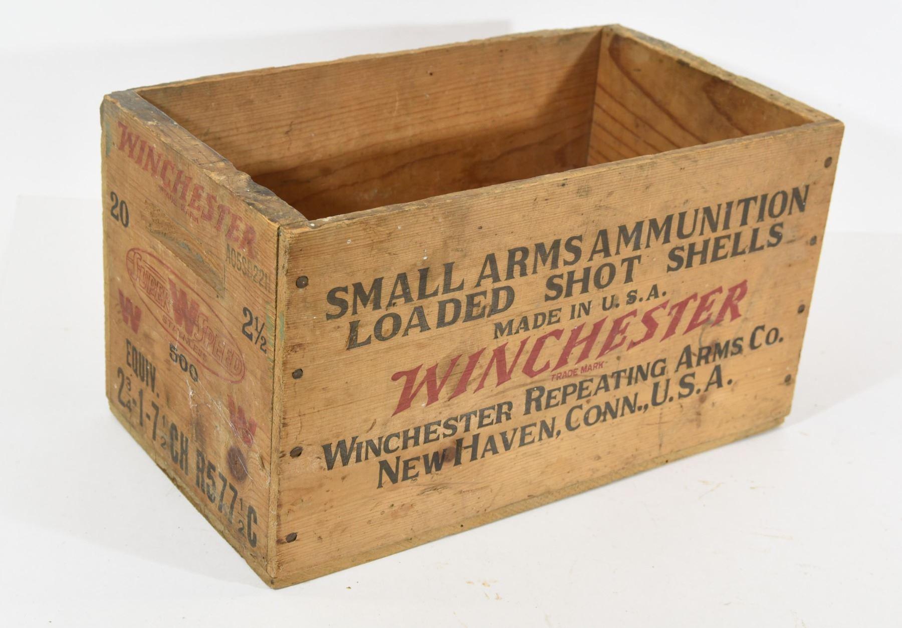 Winchester Vintage Wooden Ammunition Box - Landsborough