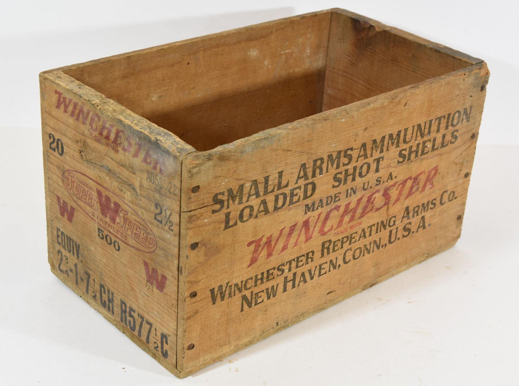 Winchester Vintage Wooden Ammunition Box