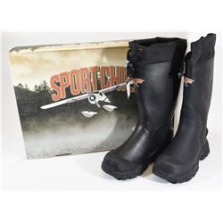 New Sport Chief Black Insulated Rubber Boots