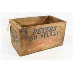 Vintage Peters Wood Shot Shell Ammo Crate