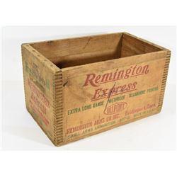 Vintage Remington Wood Ammo Crate