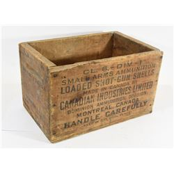 Vintage C-I-L Wood Ammo Crate & Thermometer