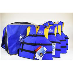 Four New Keep A Float Life Jackets