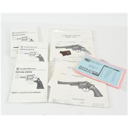 Six Smith & Wesson Manuals