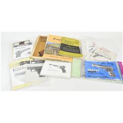 Variety of Pistol Manuals & Reloading Books