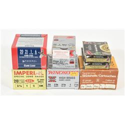 62 Rounds Mixed 20 Gauge Shotshells