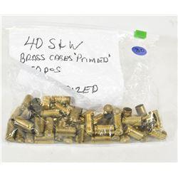 50 Pieces 40 S & W Brass
