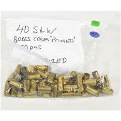 50 Pieces 40 S & W Brass