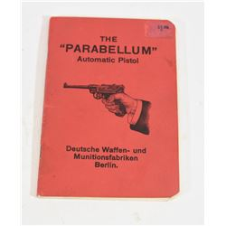 The Parabellum Automatic Pistol Manual