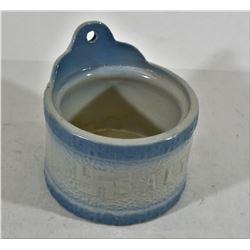 Blue/White Stoneware Wall Salt Cellar SWASTIKA