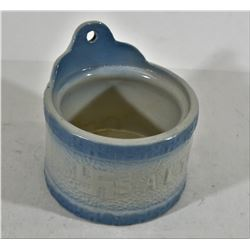 Blue/White Stoneware Wall Salt Cellar SWASTIKA
