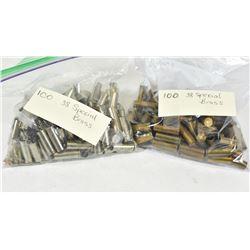 200 Pieces 38 Spl Brass