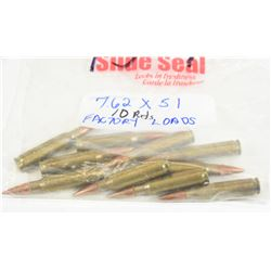 10 Rounds 7.62 X 51 Factory Loaded