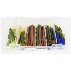 Rubber Worms & Bait Fish