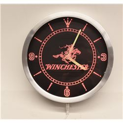 Winchester 10 Inch LED Neon Wall Clock in Red