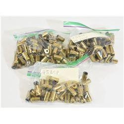 233 Pieces 45 ACP Brass