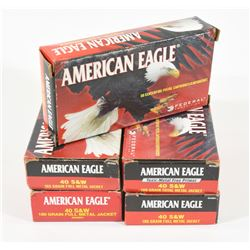 250 Rounds American Eagle 40 S&W 180grn