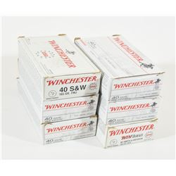 300 Rounds Winchester 40 S&W 165grn