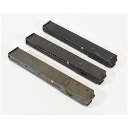 Three Sten Gun Magazines 9mm Luger