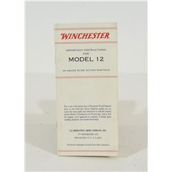 Winchester Model 12 Manual 20 Gauge