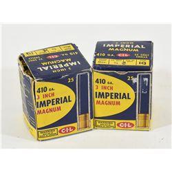"50 Rounds Imperial 410 Ga x 3"" Shotshells"