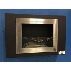 "ECO-FEU WALL MOUNT ETHANOL GAS FIREPLACE - 33"" X 23"""