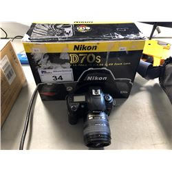NIKON D70S SLR DIGITAL CAMERA WITH NIKKOR 18 - 70 MM LENS (PARTS, REPAIR SALVAGE)