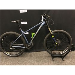 BLUE AND GREY NORCO FLUID 3+ 11 SPEED FRONT SUSPENSION MOUNTAIN BIKE WITH FRONT AND REAR HYDRAULIC