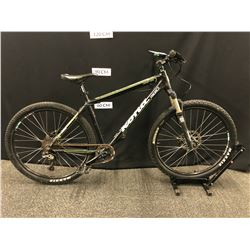 BLACK KONA CINDER CONE 9 SPEED FRONT SUSPENSION MOUNTAIN BIKE WITH FRONT AND REAR HYDRAULIC DISC