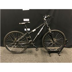 BLACK BRODIE FORCE 24 SPEED FRONT SUSPENSION MOUNTAIN BIKE WITH FRONT AND REAR DISC BRAKES