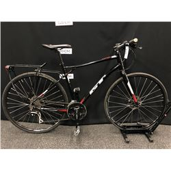 BLACK GT VIRAGE 24 SPEED TRAIL BIKE WITH FRONT AND REAR DISC BRAKES, LARGE FRAME SIZE