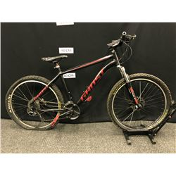 BLACK GHOST KATO 1 24 SPEED FRONT SUSPENSION MOUNTAIN BIKE WITH FRONT AND REAR HYDRAULIC DISC