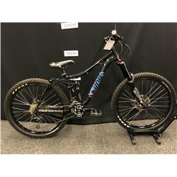 BLACK KONA MINXY 18 SPEED FULL SUSPENSION MOUNTAIN BIKE WITH FRONT AND REAR HYDRAULIC DISC BRAKES,