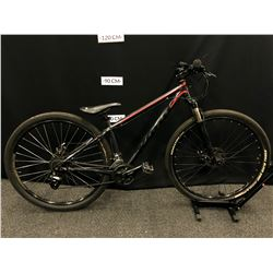 BLACK KONA SPLICE 24 SPEED FRONT SUSPENSION MOUNTAIN BIKE WITH FRONT AND REAR DISC BRAKES