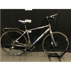 """GREY AND BLUE NORCO VFR 18 SPEED HYBRID TRAIL BIKE WITH FRONT AND REAR HYDRAULIC DISC BRAKES, 18"""""""