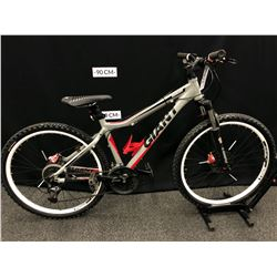 GREY GIANT YUKON 24 SPEED FRONT SUSPENSION MOUNTAIN BIKE WITH FRONT AND REAR HYDRAULIC DISC BRAKES