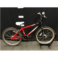 BLACK AND RED HARO GROUP 1 BMX RACE BIKE