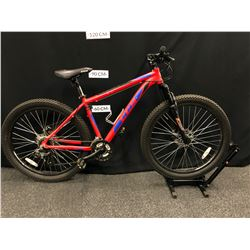 RED CCM TRAILHEAD 21 SPEED FAT TIRE FRONT SUSPENSION TRAIL BIKE WITH FRONT AND REAR DISC BRAKES
