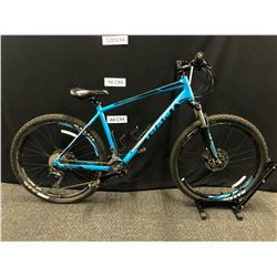 BLUE GIANT TALON 18 SPEED FRONT SUSPENSION MOUNTAIN BIKE WITH FRONT AND REAR HYDRAULIC DISC BRAKES,